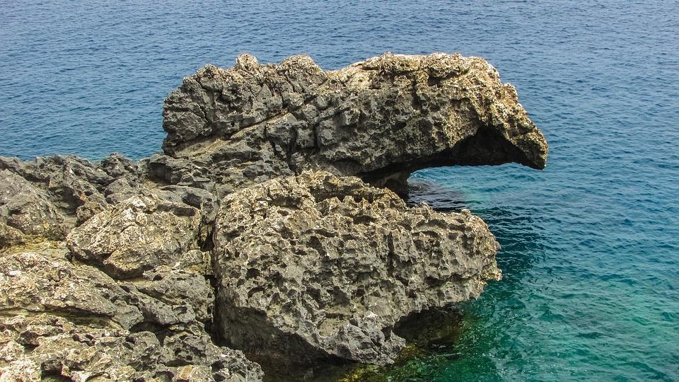 Cyprus, Cavo Greko, Rock, Rocky Coast, Coastline, Sea