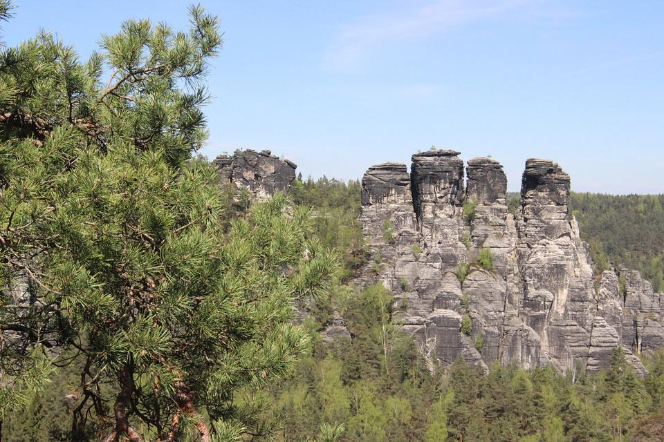 Bastei, Mountain, Saxony, Rock, Sandstone Mountain