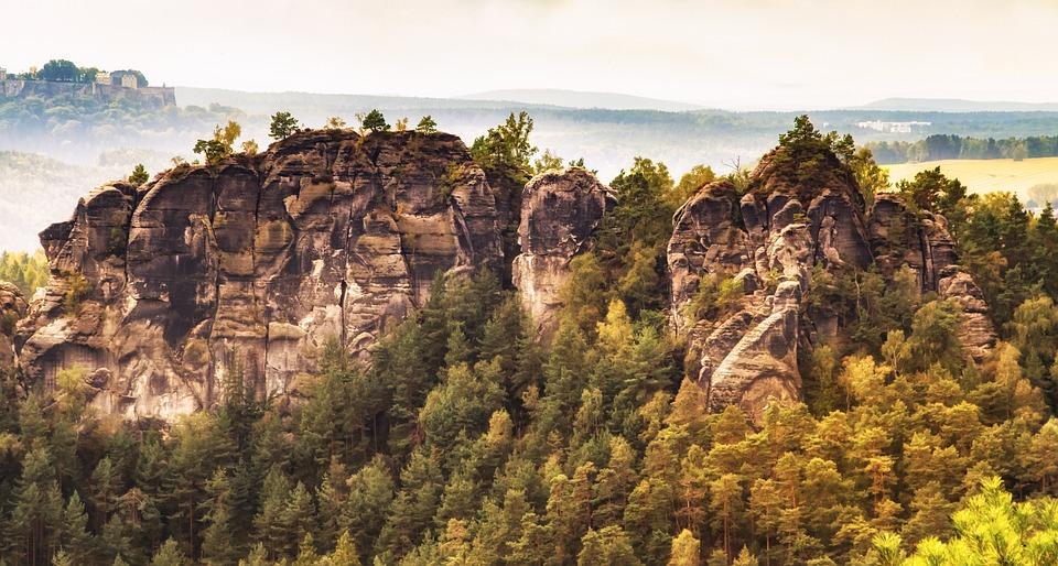 Saxon Switzerland, Rock, Landscape