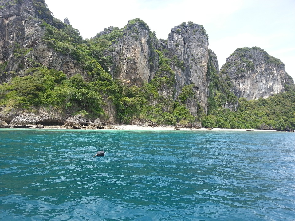 Sea, Rock, Cliff, Thailand, Phuket