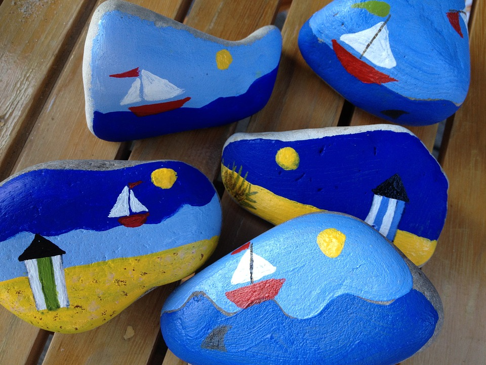Paint, Rock, Drawing, Painted, Stone, Play, Summertime