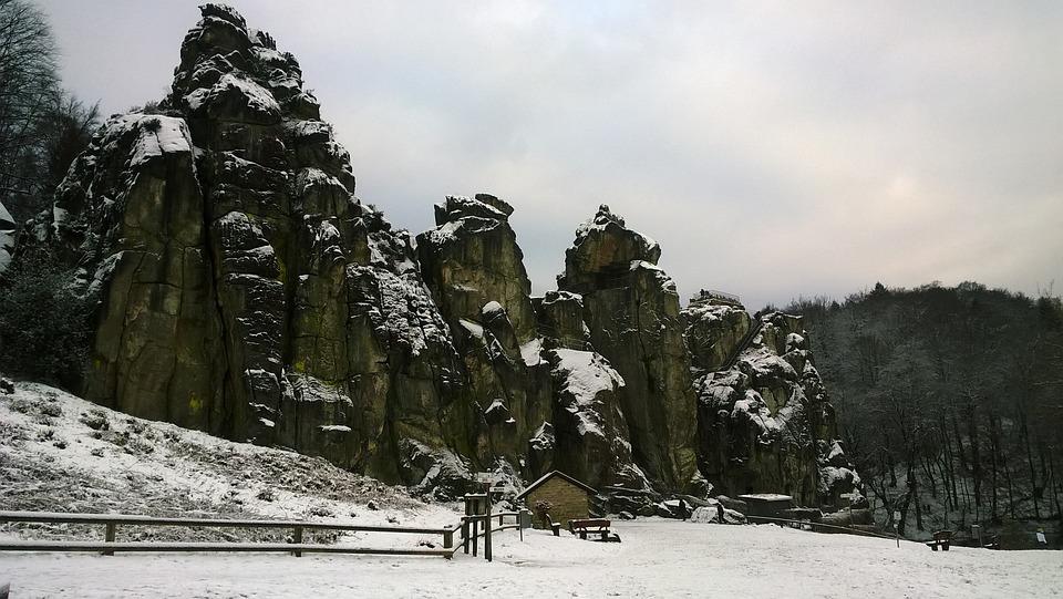 Externsteine, Rock, Teutoburg Forest, Stones, Nature