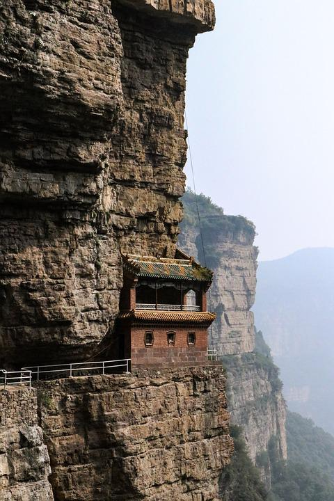The Taihang Mountains, A Single House, Ridge, Rock