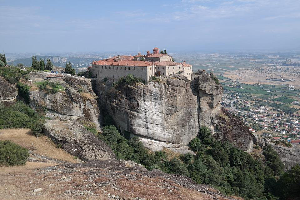 Meteora, Greece, Travel, Rock, Greek, Valley