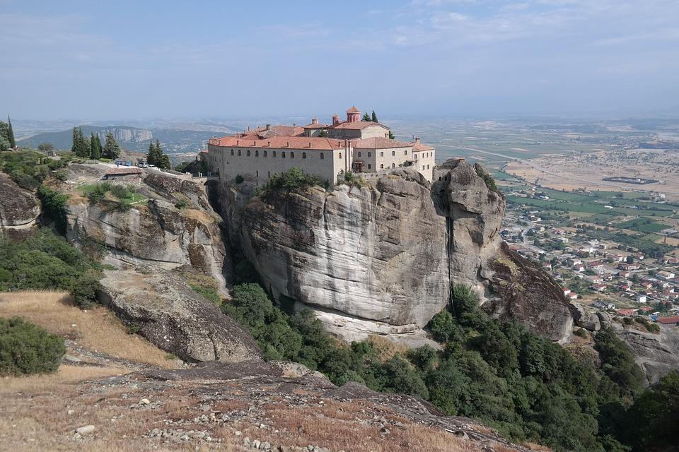 Meteora, Greece, Travel, Rock, Greek, Valley