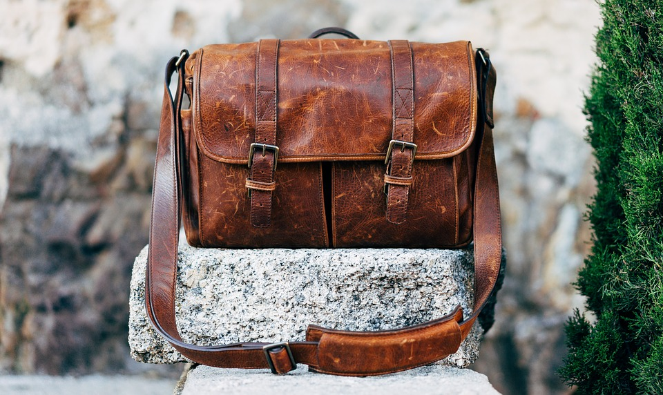 Bag, Classic, Leather, Messenger Bag, Rock, Vintage