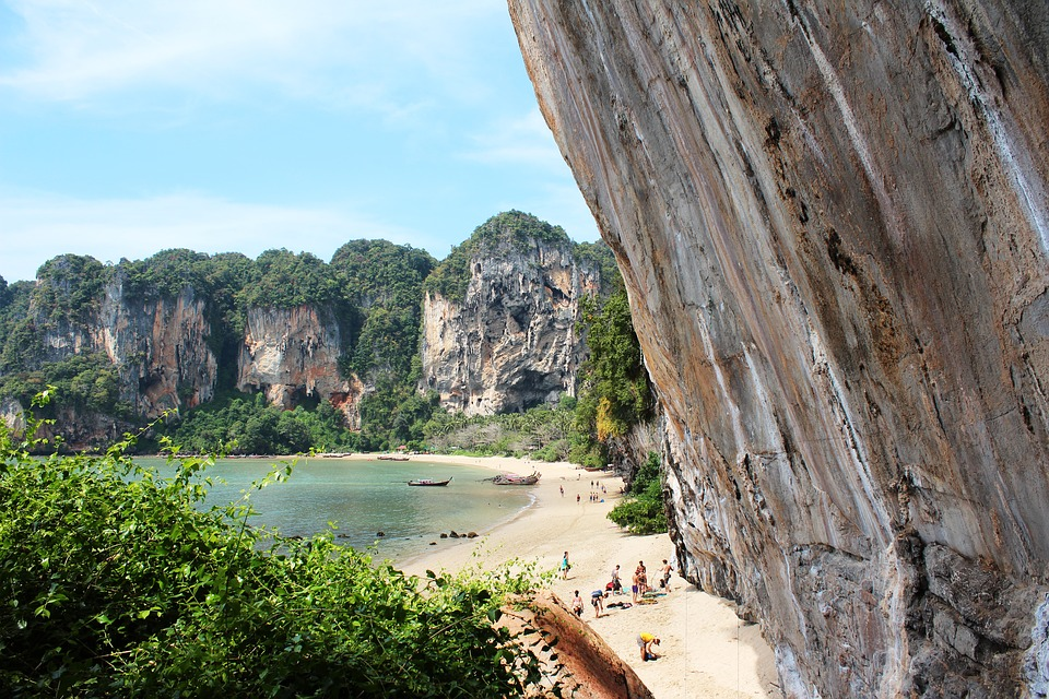 Climbing Wall, Nature, Rock Wall, Beach, Rock