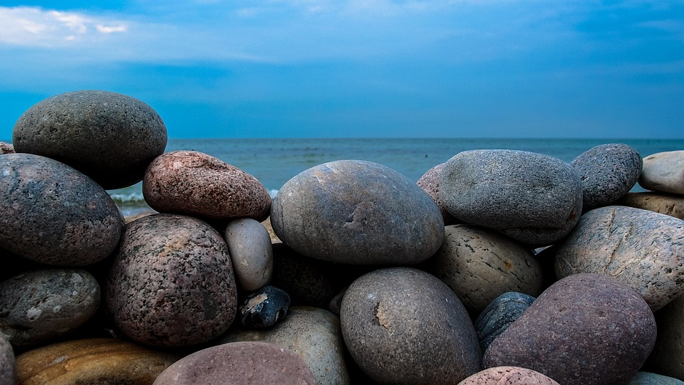 Rock Wall, Stones, Sea, Beach, Stone Tower, Stacked