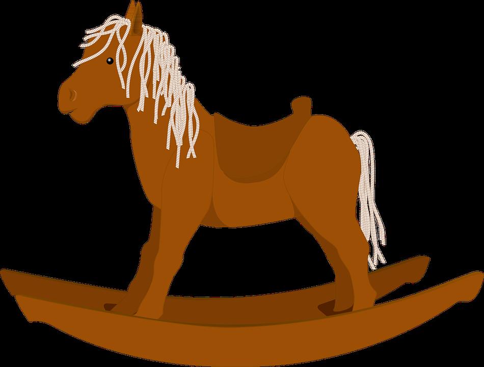 Rocking Horse, Rocker, Wooden, Children, Play, Fun