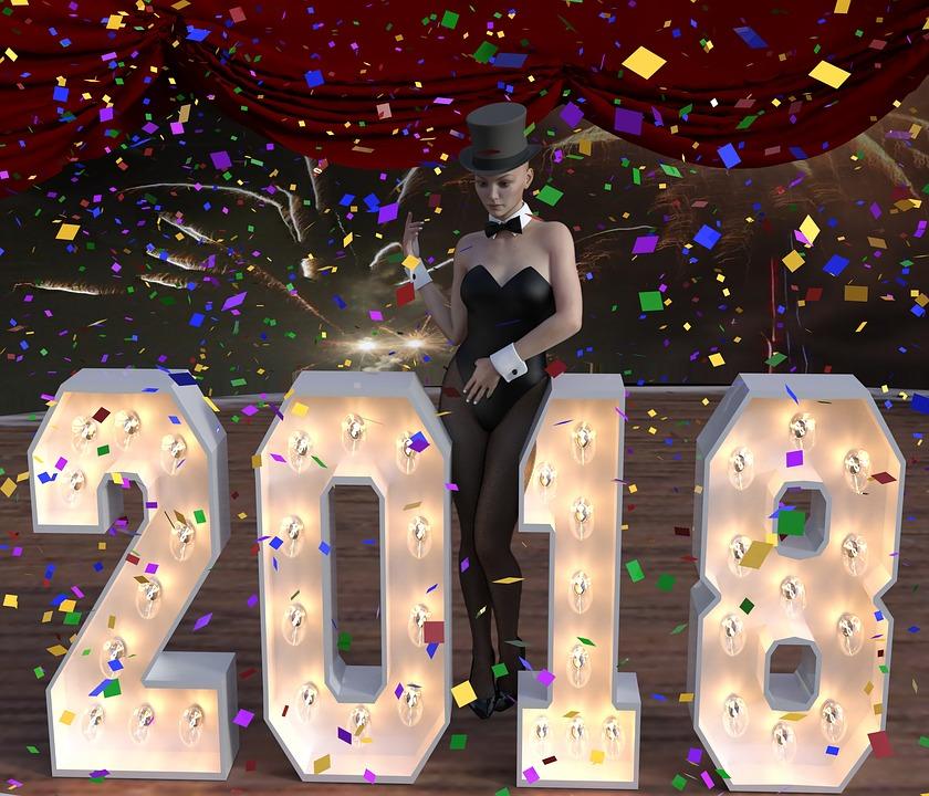New Year's Eve, 2018, Rocket, Confetti