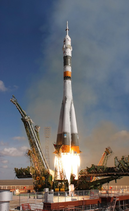 Rocket Launch, Rocket, Take Off, Soyuz, Space Travel
