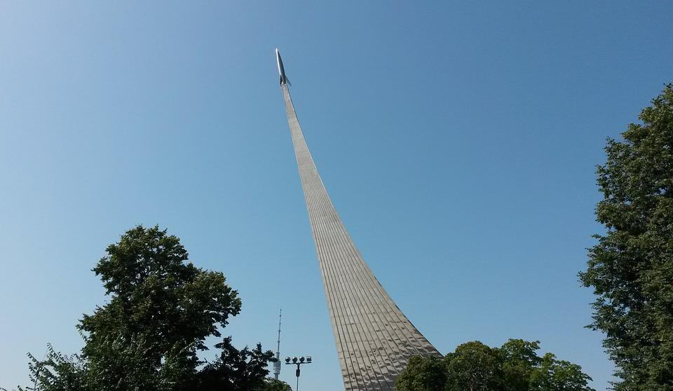 Moscow, Russia, Monument, Rocket, Enea, The Ussr
