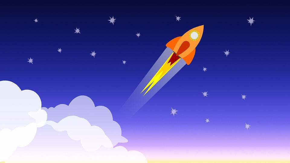 Rocket Ship, Blast Off, Take Off, Launch, Fire, Flames