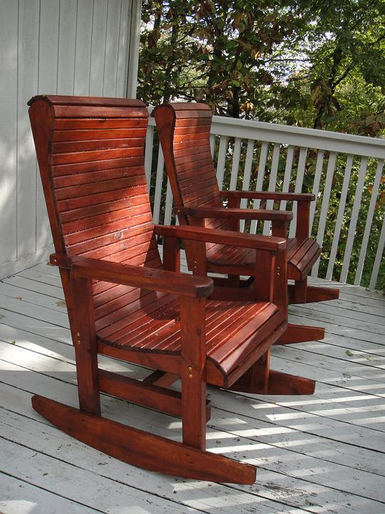 Rocking Chairs, Porch, Afternoon, Furniture