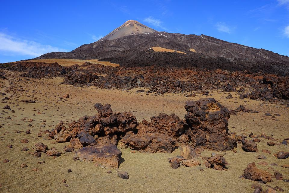 Pico Del Teide, Teide, Pico, Rock, Rocks, Away, Path