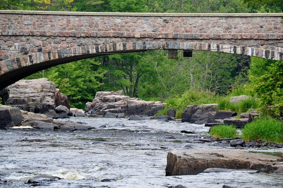 Nature, River, Water, Rocks, Bridge
