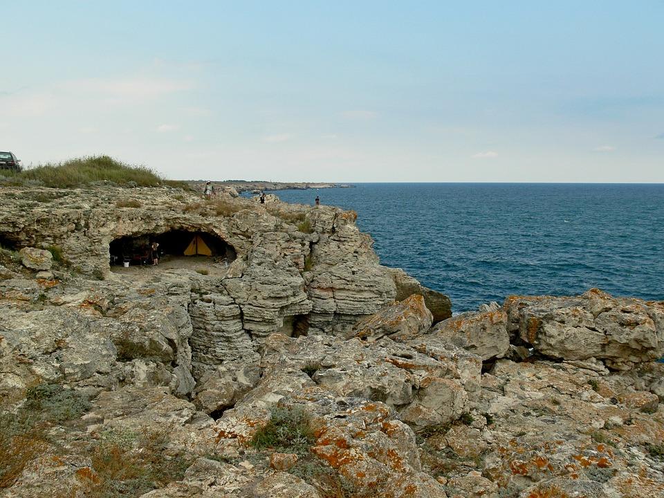 Tyulenovo, Bulgaria, Rocks, Coast, Water, Sea