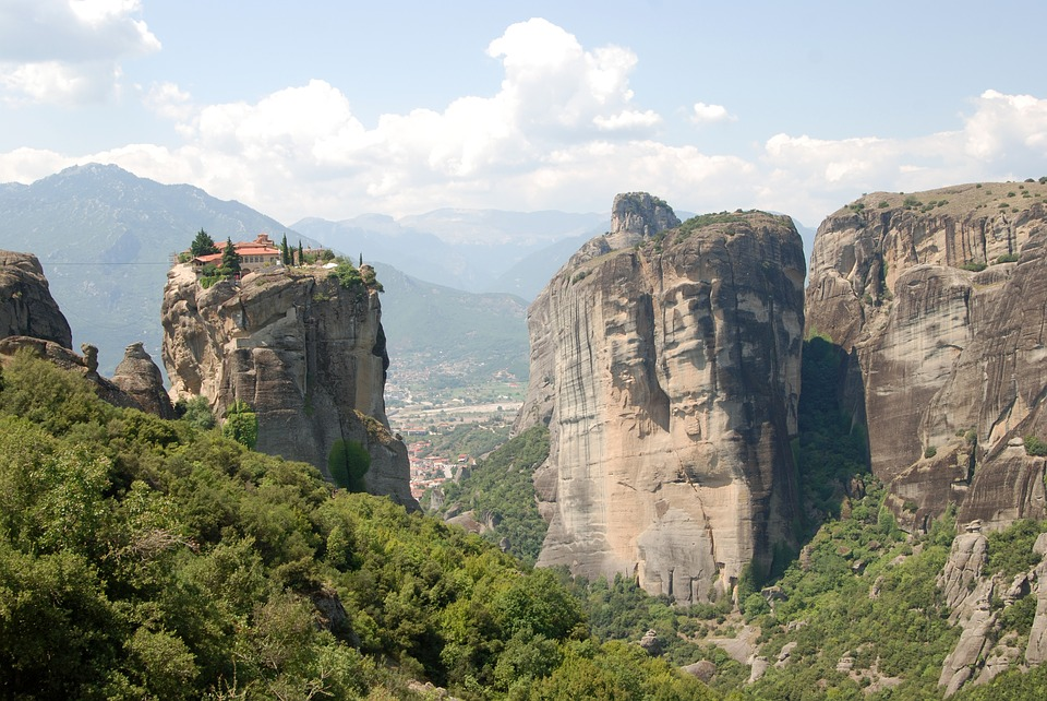 Meteors, Greece, Monastery, Nature, Landscape, Rocks
