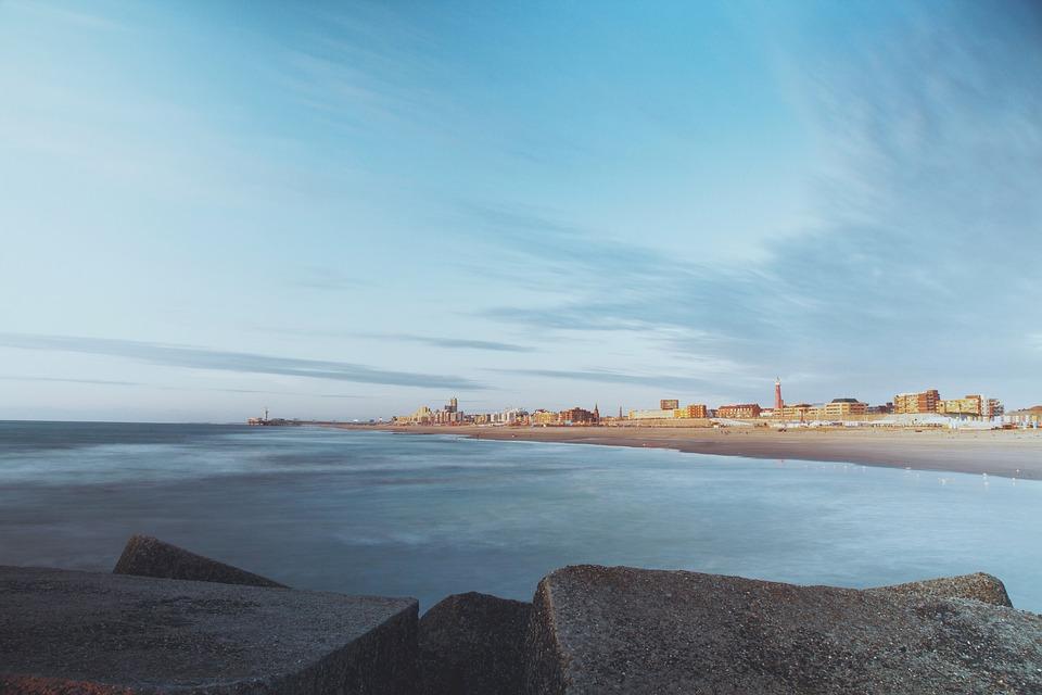 Landscape, Beach, Sand, Shore, Ocean, Sea, Rocks, Blue