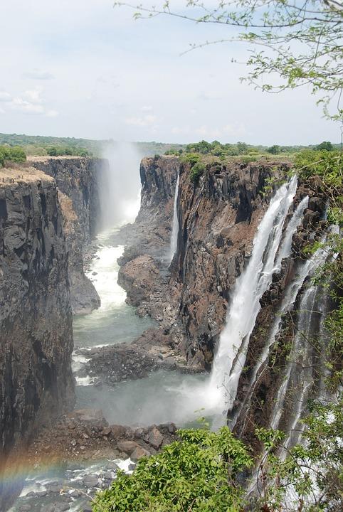 Waterfalls, Nature, Landscape, Scenic, River, Rocks
