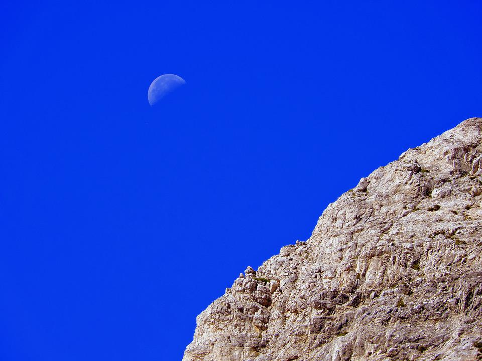 Rock, Luna, Sky, Rocks