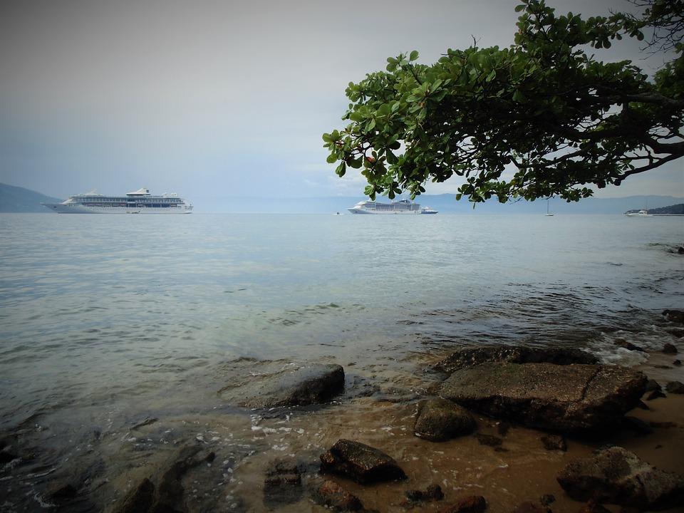 Beach, Mar, Nature, Boat, Travel, Rocks, Sky, Beira Mar
