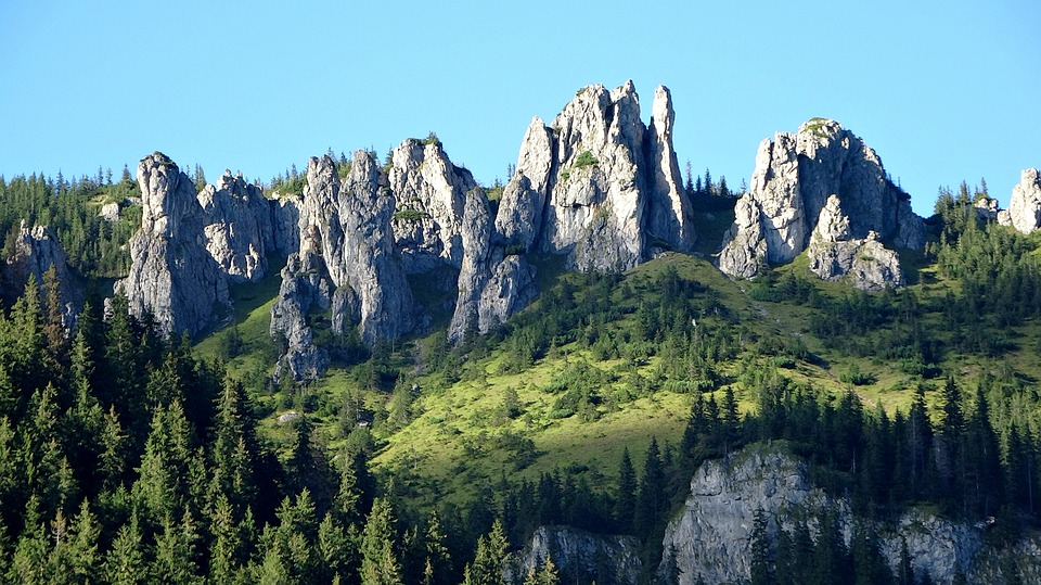 Tatry, Mountains, Rocks, Chochołowska Valley, Landscape