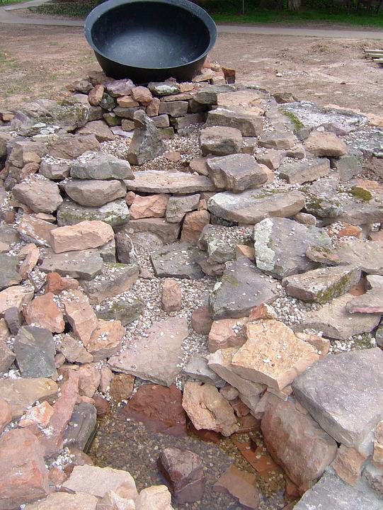 Rocks, Fountain, Stone, Natural, Outdoor, Landscape