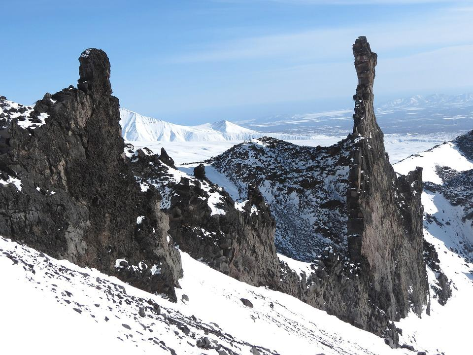 Rocks, Stones, Mountains, Birds, Height, Flight, Nature