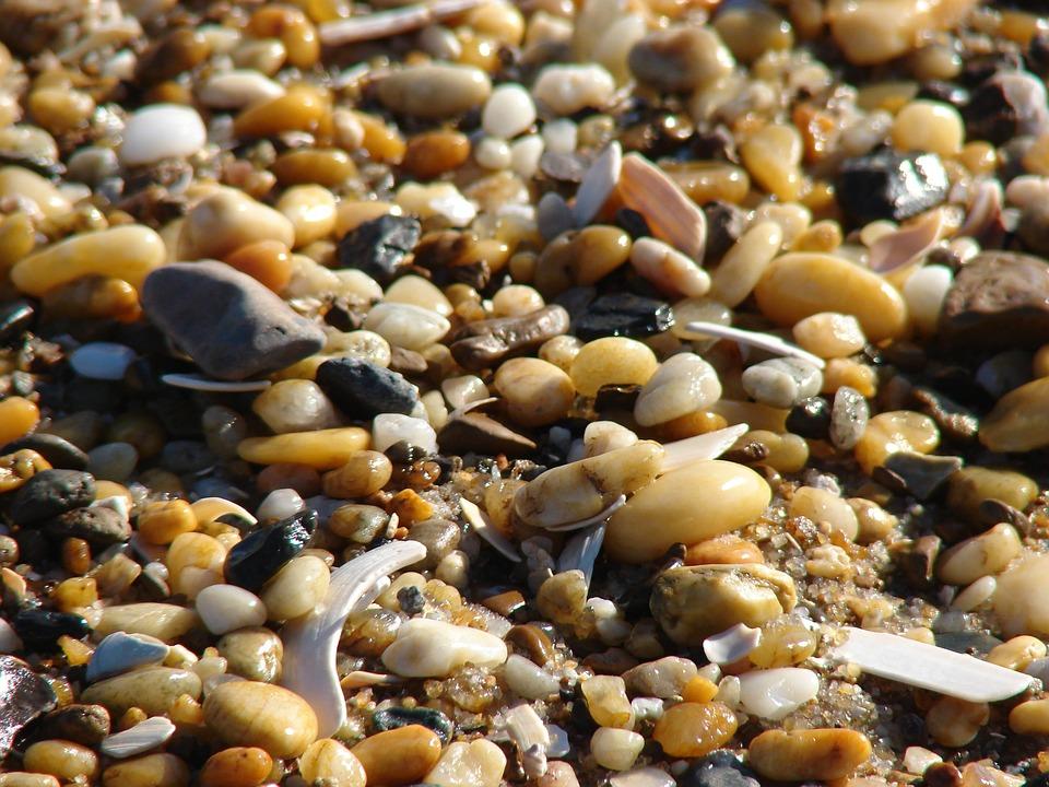 Pebbles, Beach, Rocks