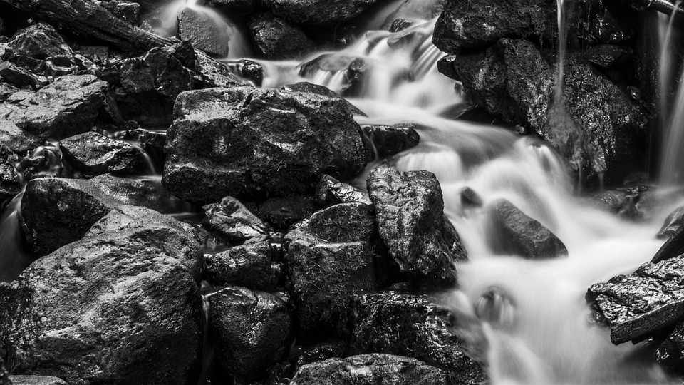 River, Rocks, Slow Water, Smooth, Nature, Stream