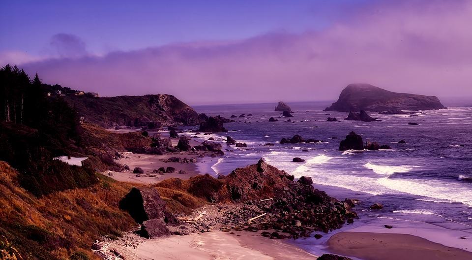 Oregon, Rocks, Stones, Rocky, Formations, Sea, Ocean
