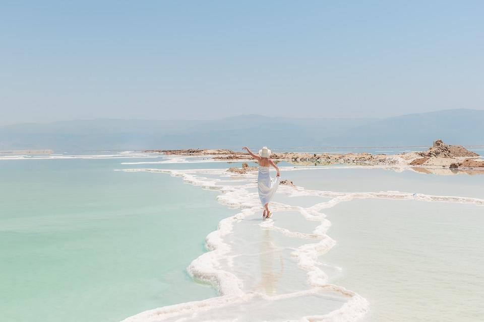 Woman, Dance, Ocean, Sea, Beach, Rocks, Relaxation