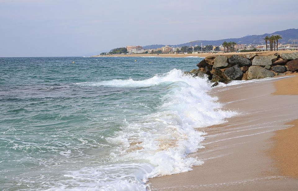 Sea, Beach, Side, Sandy Beach, Rocks, Landscape