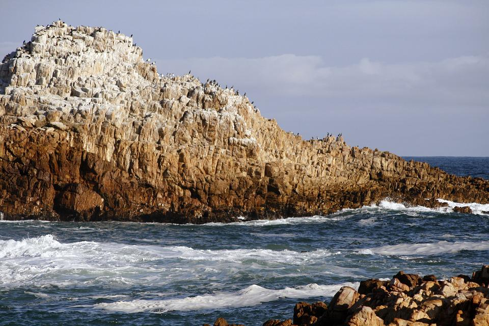 South Africa, Kynsna Heads, Seascape, Rocks, Sea, Water