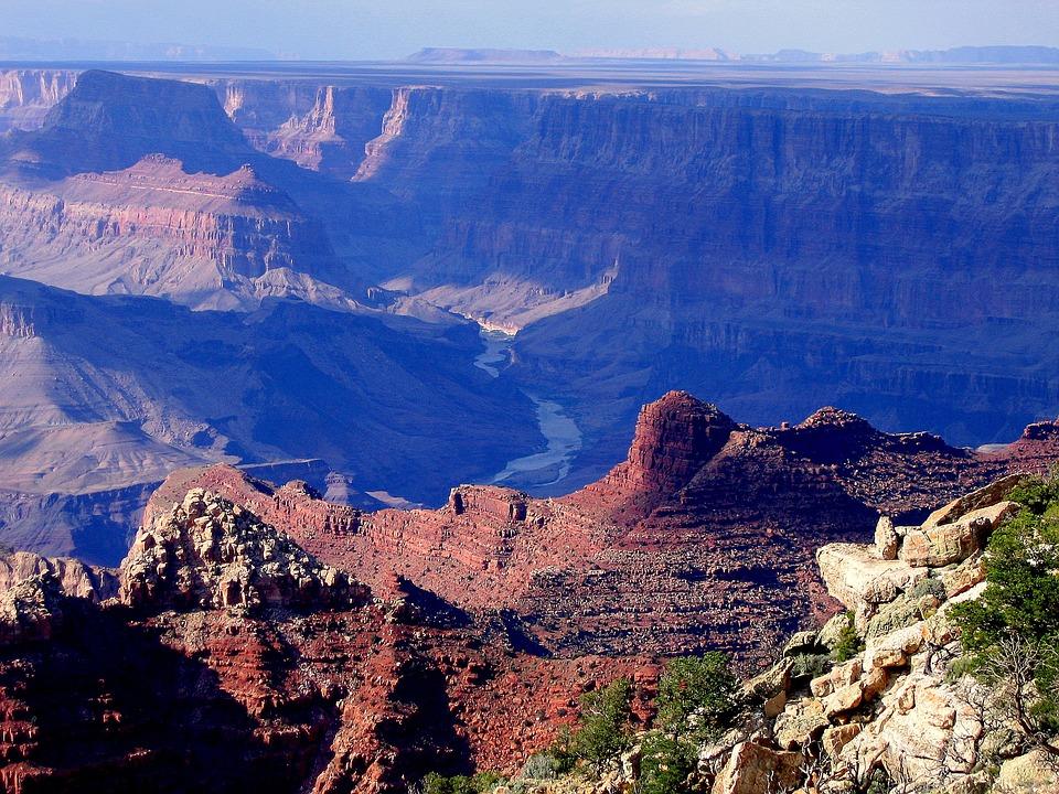 The Grand Canyon, Usa, Canyon, Nature, Landscape, Rocks