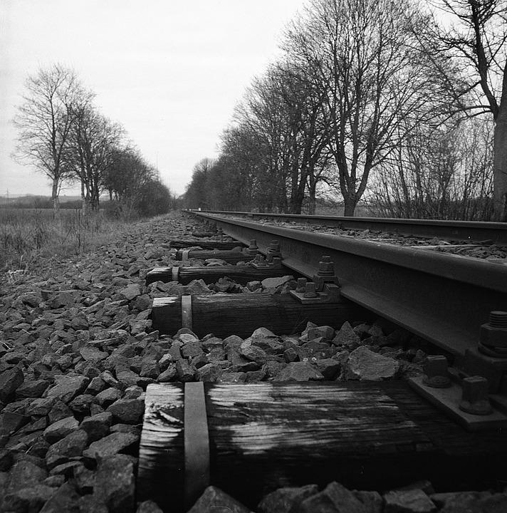 Train Tracks, Rocks, Train, Railway, Track, Railroad