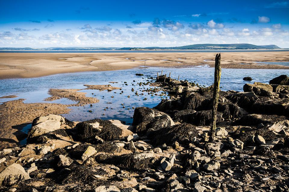 Horizon, Landscape, Sea, Water, Rocks, Stones, Sky
