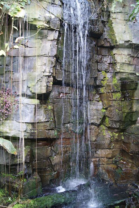 Mini, Artificial, Aquarium, Waterfall, Rocks