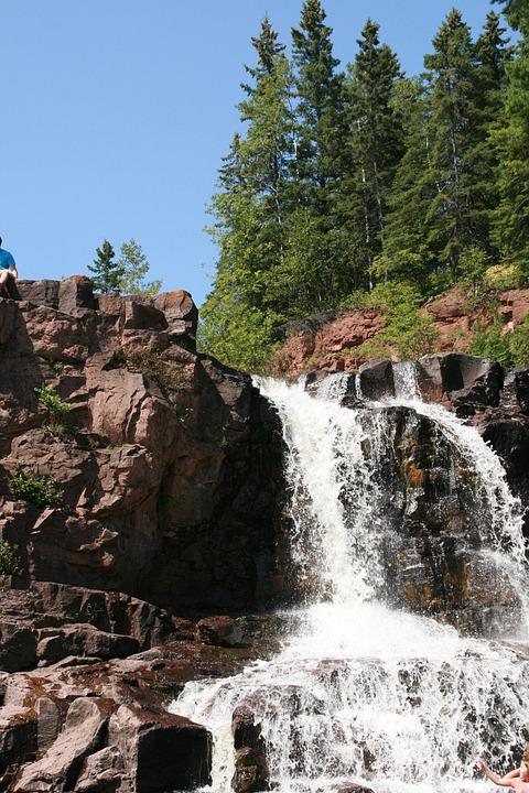 Gooseberry Falls, Waterfall, Minnesota, River, Rocks