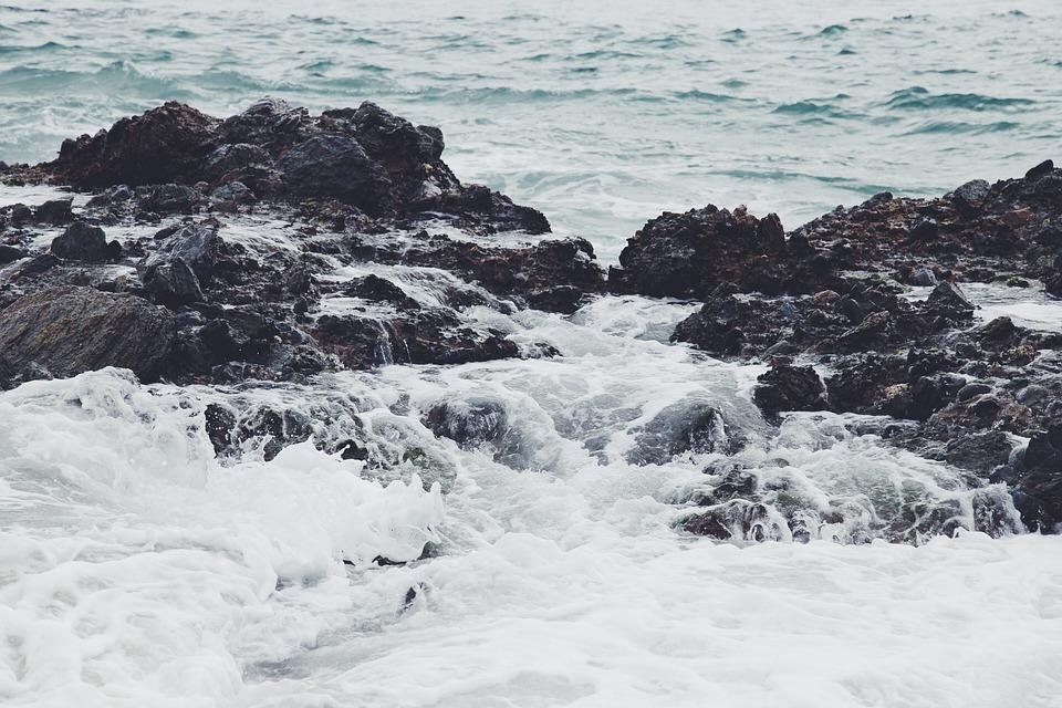 Ocean, Sea, Waves, Water, Rocks