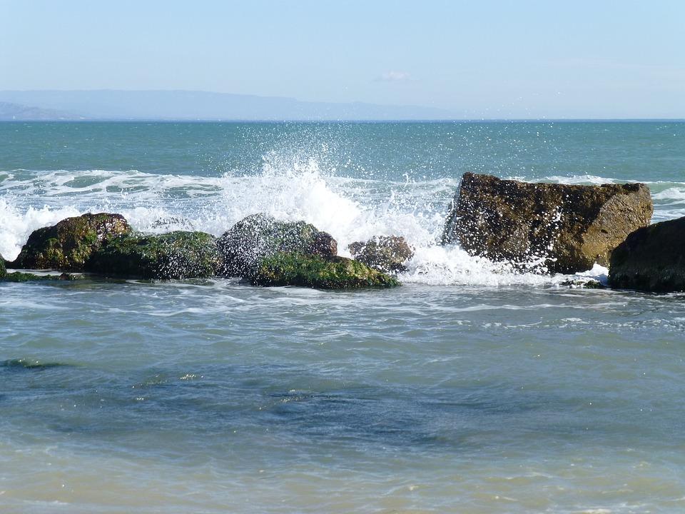 Sea, Waves, Beach, Costa, Rocks