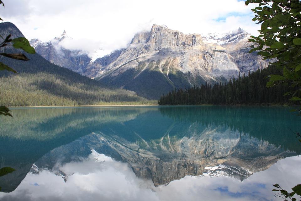Emerald Lake, Canada, Rocky, Mountain, Reflections