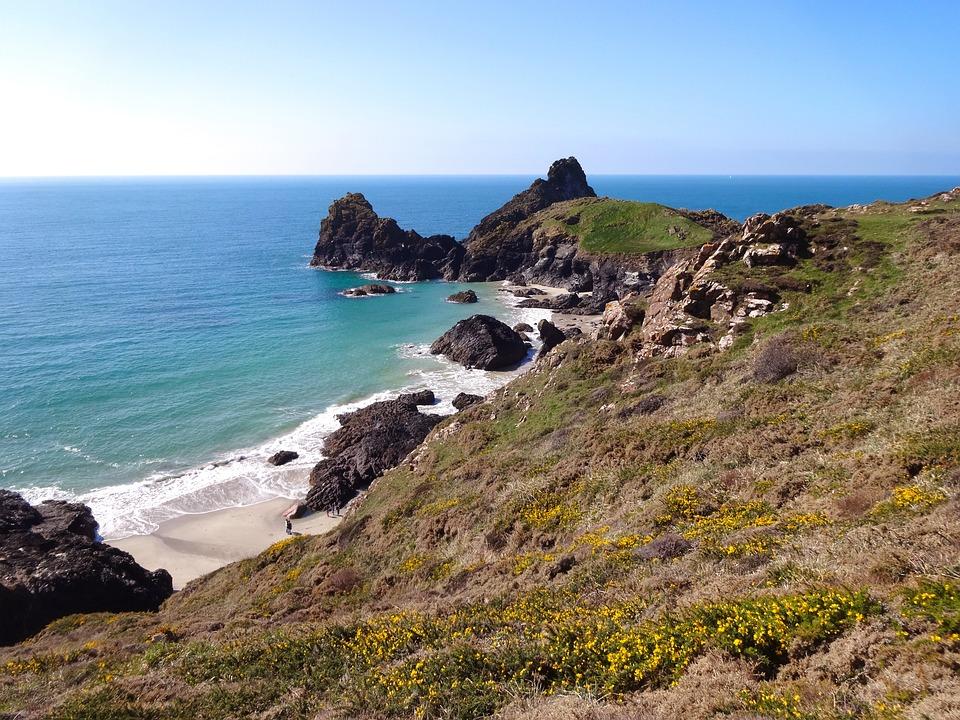 Cornwall, Coast, Sea, Rock, Beach, Rocky Coast, Bank
