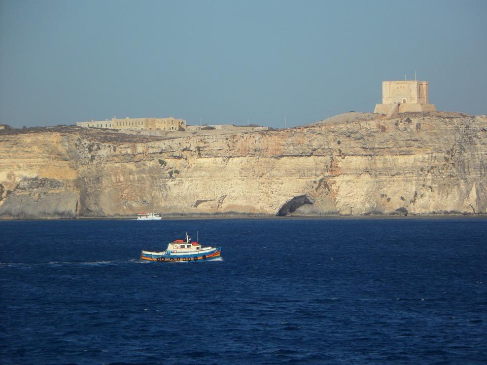 Boot, Cliff, Mediterranean, Rocky Coast, Rocky