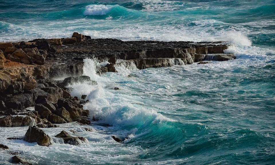 Rocky Coast, Waves, Sea, Nature, Landscape, Rough Sea