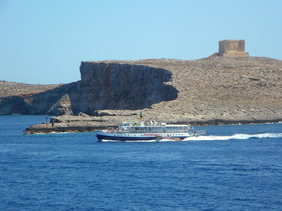 Shipping, Ship, Sea, Coast, Rocky Coast, Mediterranean