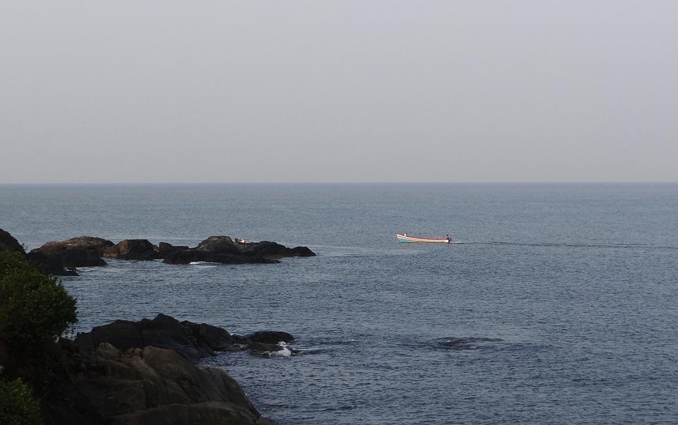 Sea, Arabian, Coast, Rocky, View, Cliff, Hills, Rocks