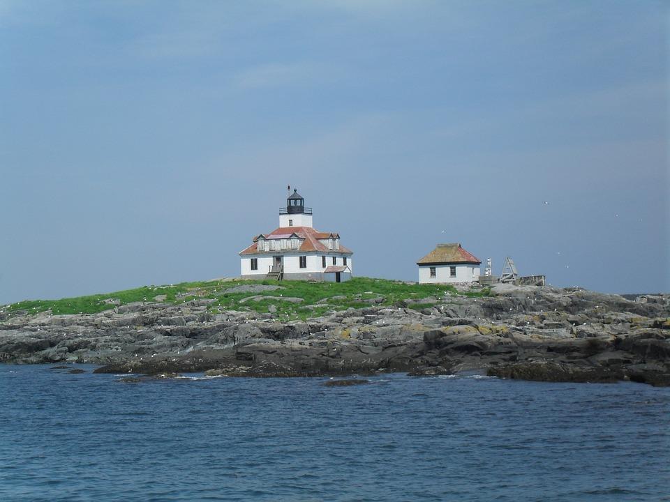 Lighthouse, Maine, Rocky, Historic, Coastal, Sea, New