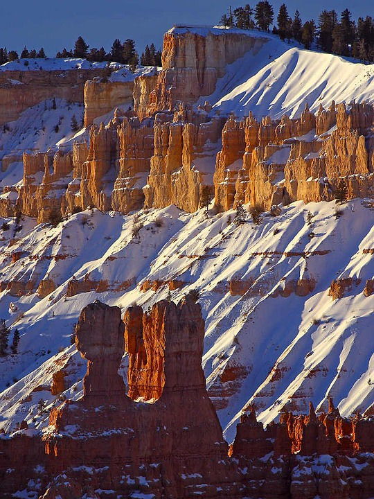 Rocky Pinnacles, Rocky Towers, Turret, Erosion, Winter